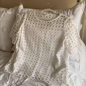Crown & Ivy White lace top